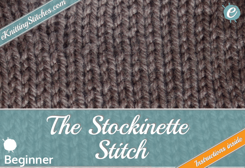 Stockinette stitch example & Title Slide for