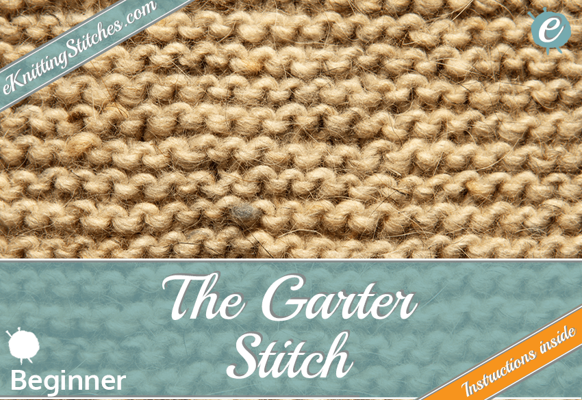 Garter stitch example & Title Slide for