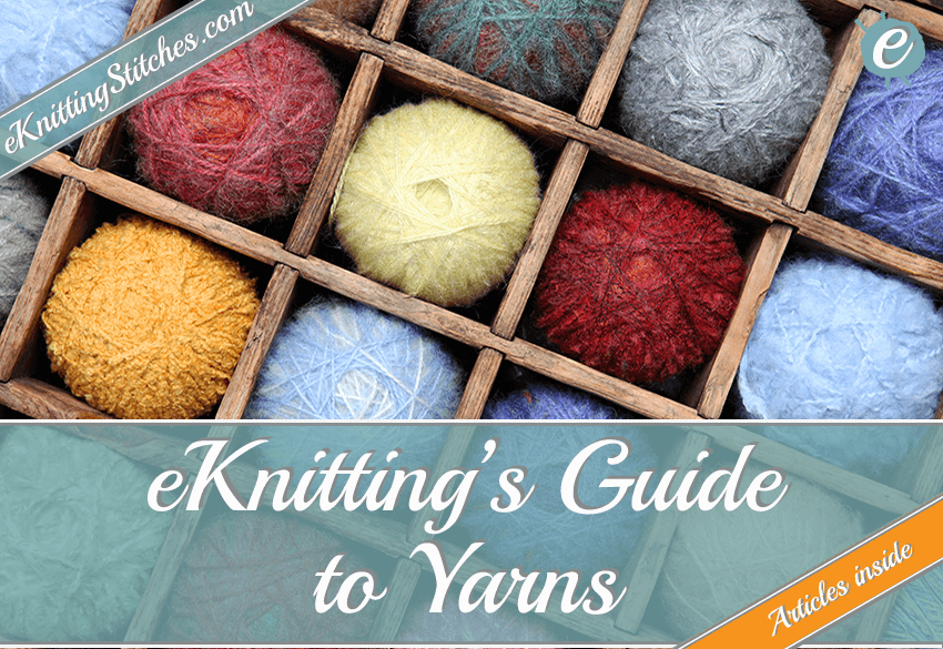 eKnitting Stitches Guide to Yarns Title