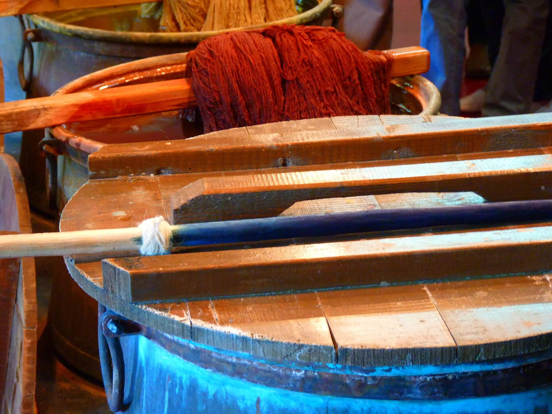 Yarn being Dyed