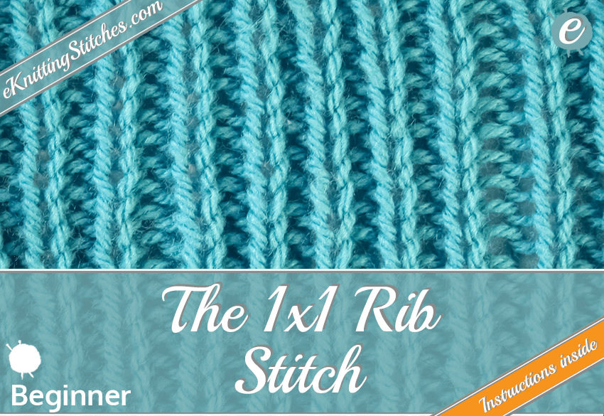 1x1 Rib Stitch example & Title Slide for