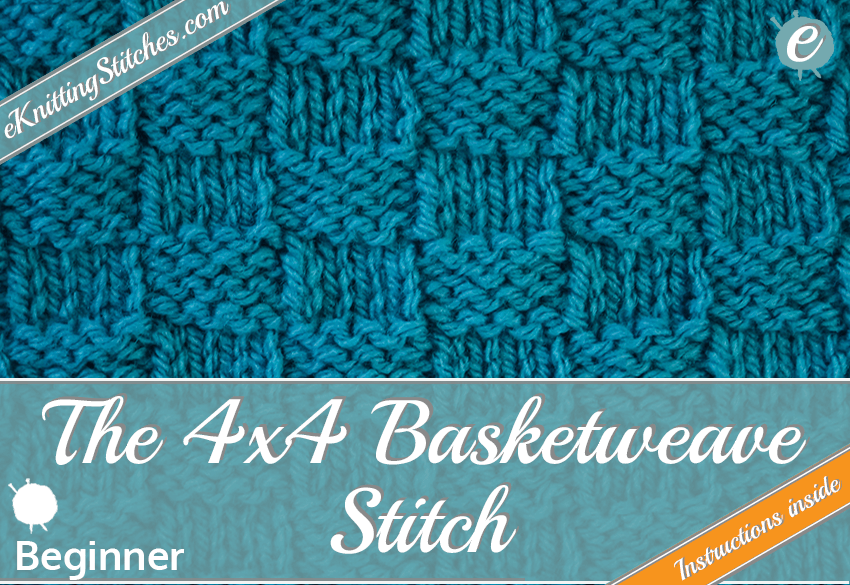 Basketweave stitch example & title slide for