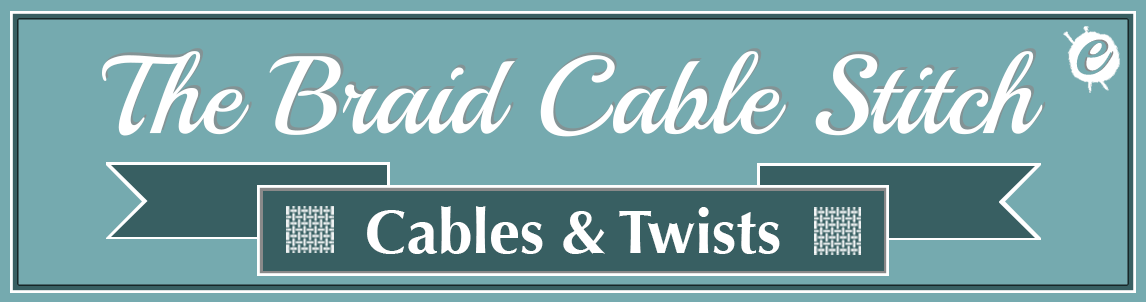 Braid Cable Stitch Banner