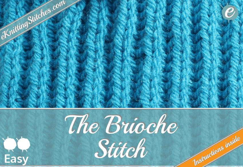Example of the Brioche Stitch and link to