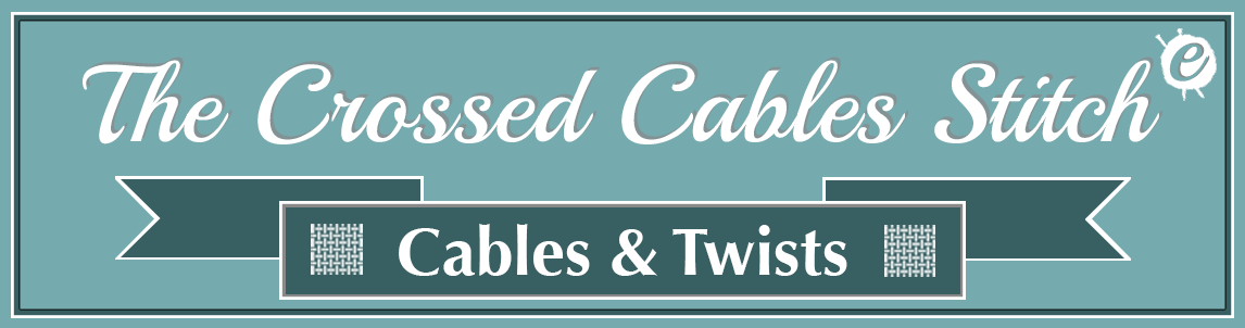 The Crossed Cables Stitch Banner Title