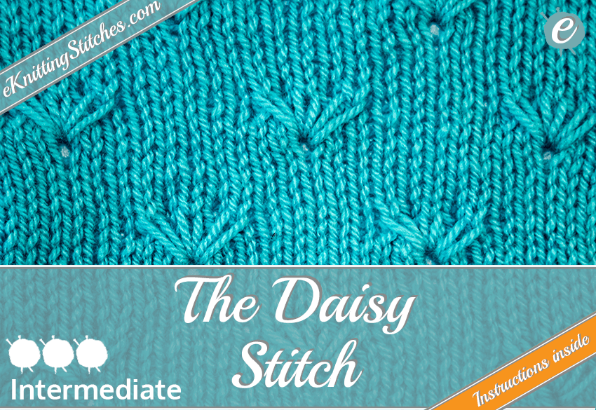 Daisy stitch example & Title Slide for