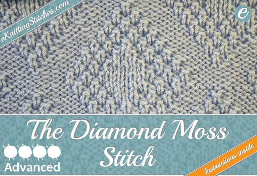 Diamond Moss Stitch example & Title Slide for