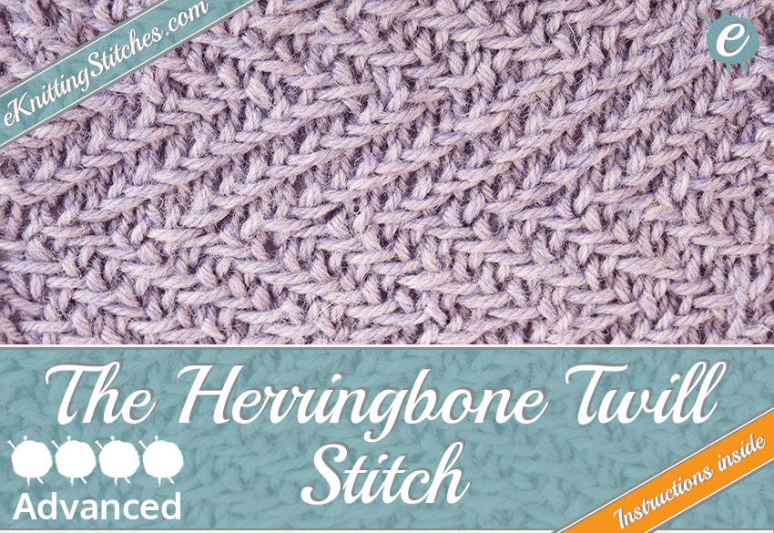 Herringbone Twill Stitch - eKnitting Stitches.com