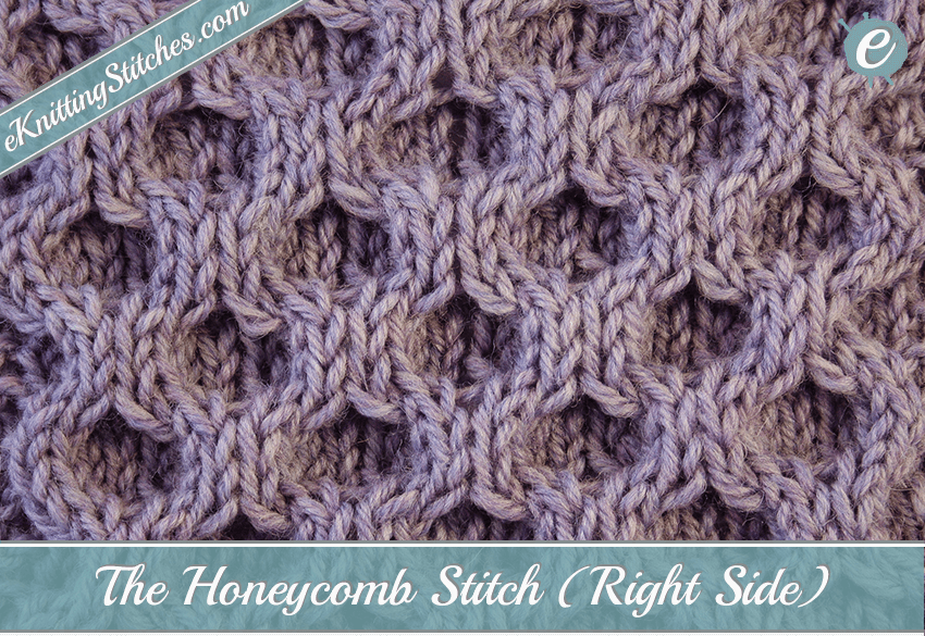 Honeycomb Cable Stitch Eknitting Stitches