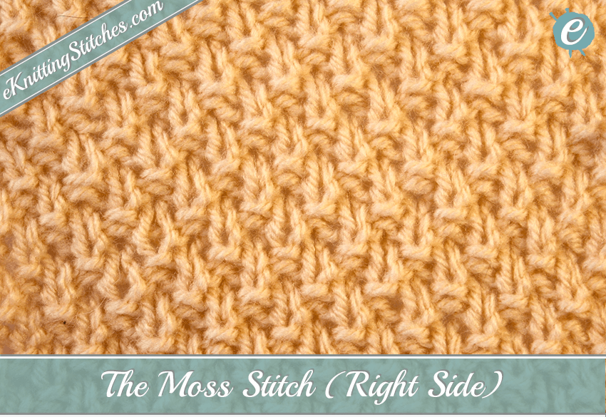 Crochet Stitches Right Side : Moss Stitch - eKnitting Stitches.com