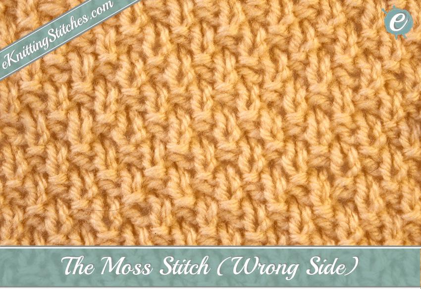 Moss Stitch Eknitting Stitches