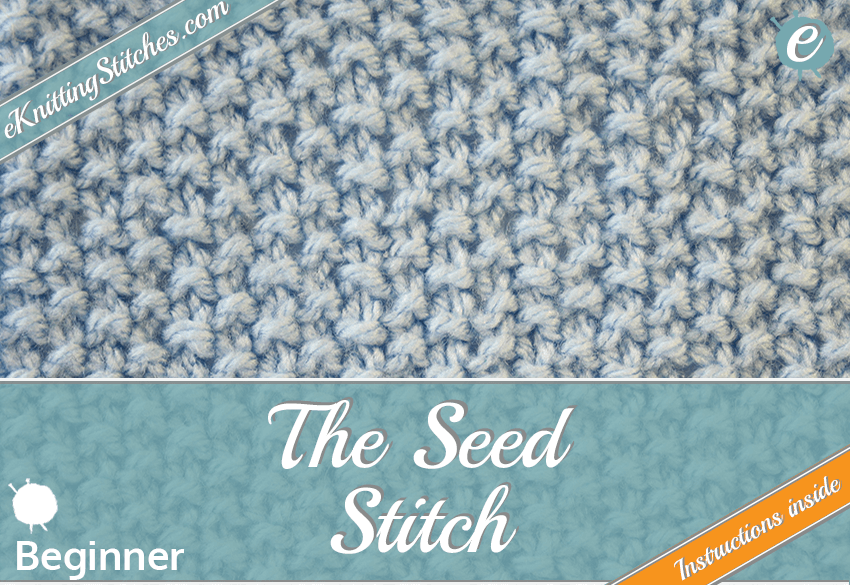 Seed stitch example & title slide for