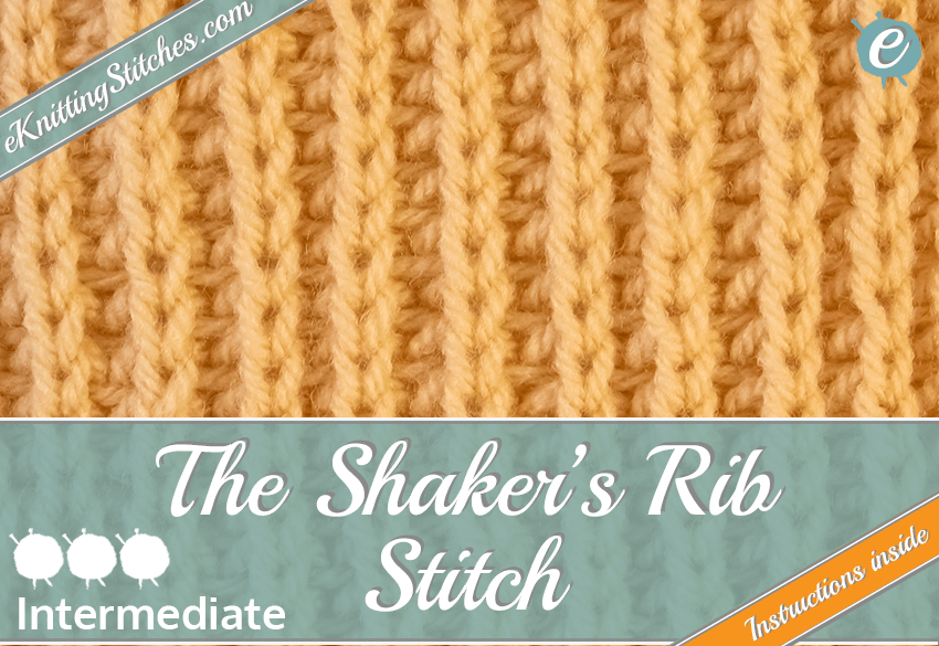 Shaker's Rib Stitch example & Title Slide for
