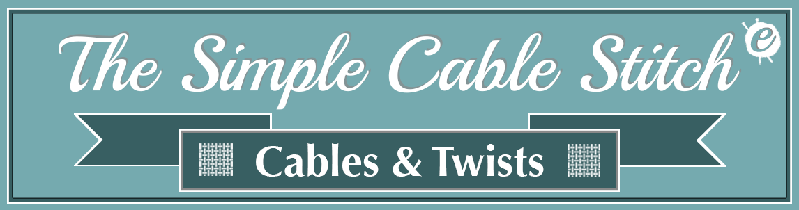 The Simple Cable Stitch Banner Title
