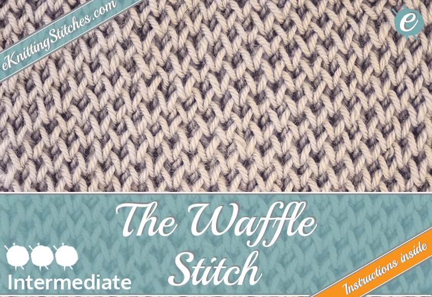 Waffle stitch example & Title Slide for