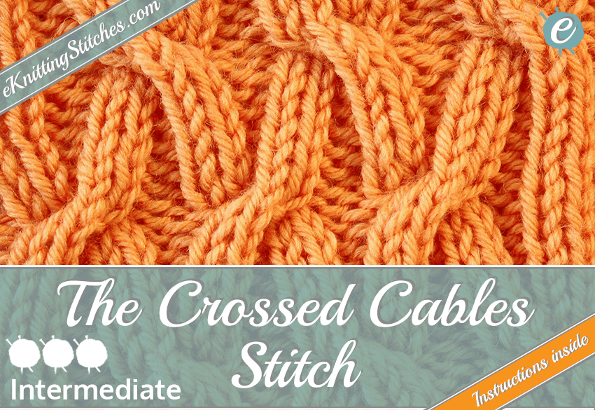 Crossed Cables stitch example & Title Slide for