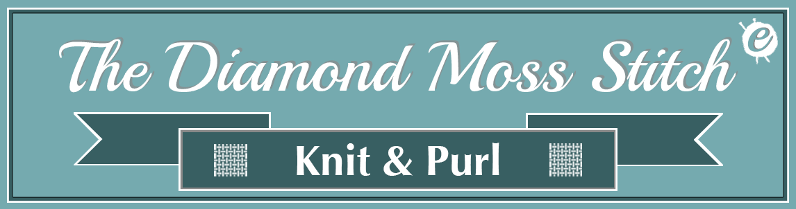 The Diamond Moss Stitch Banner