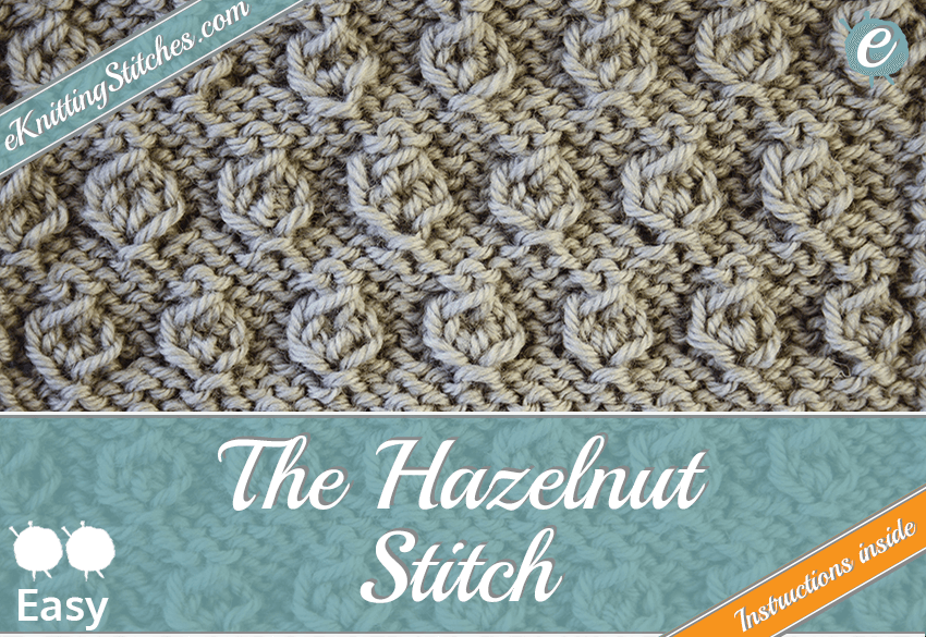 Hazelnut stitch example & Title Slide for