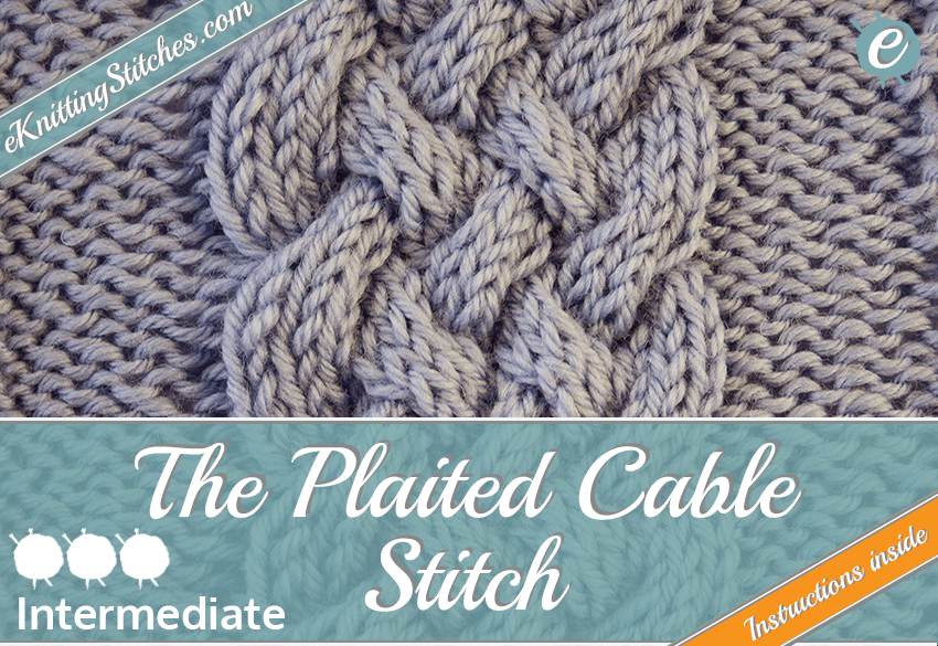 Plaited Cable stitch example & Title Slide for