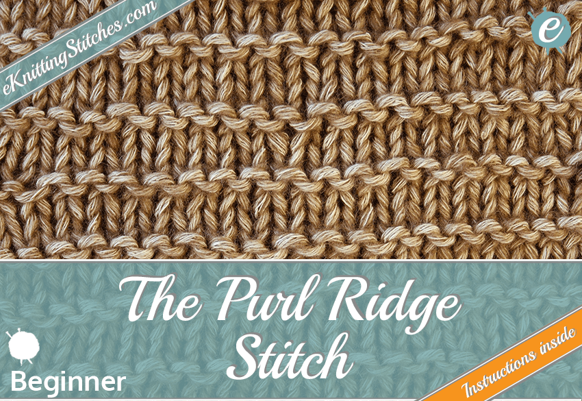 Purl Ridge stitch example & Title Slide for