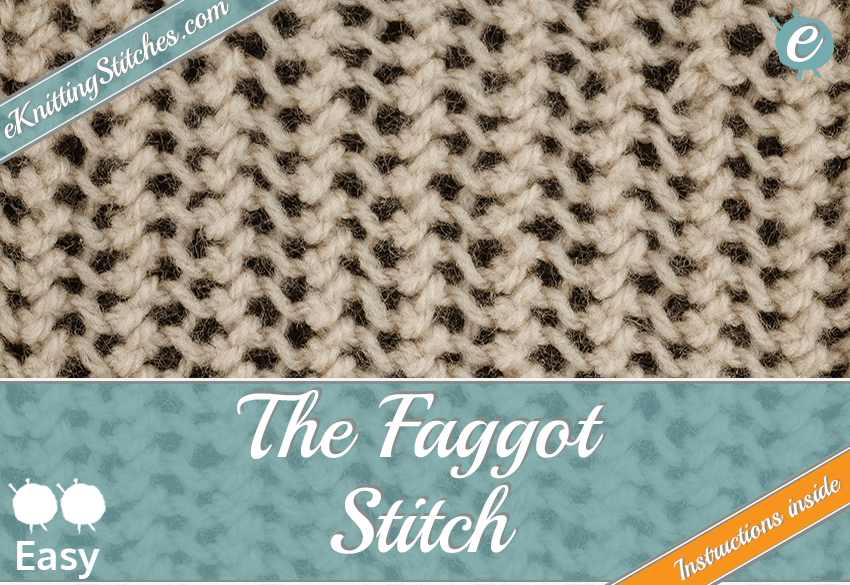Faggot stitch example & Title Slide for