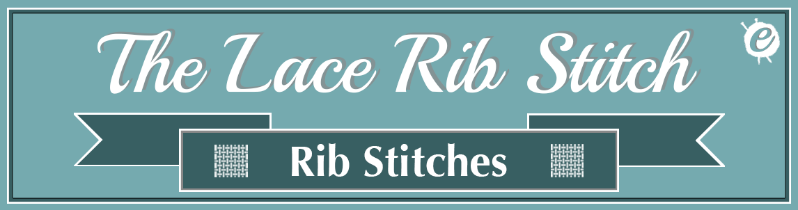 The Lace Rib Stitch Banner Title