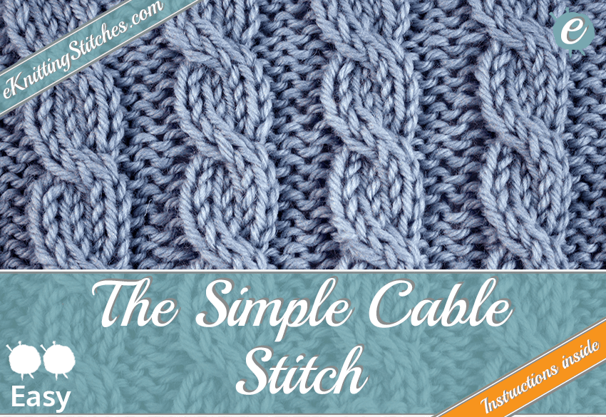 Simple Cable Stitch Eknitting Stitches