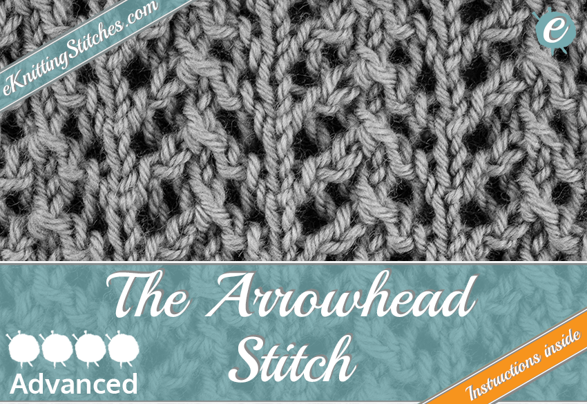 Arrowhead stitch example & title slide for