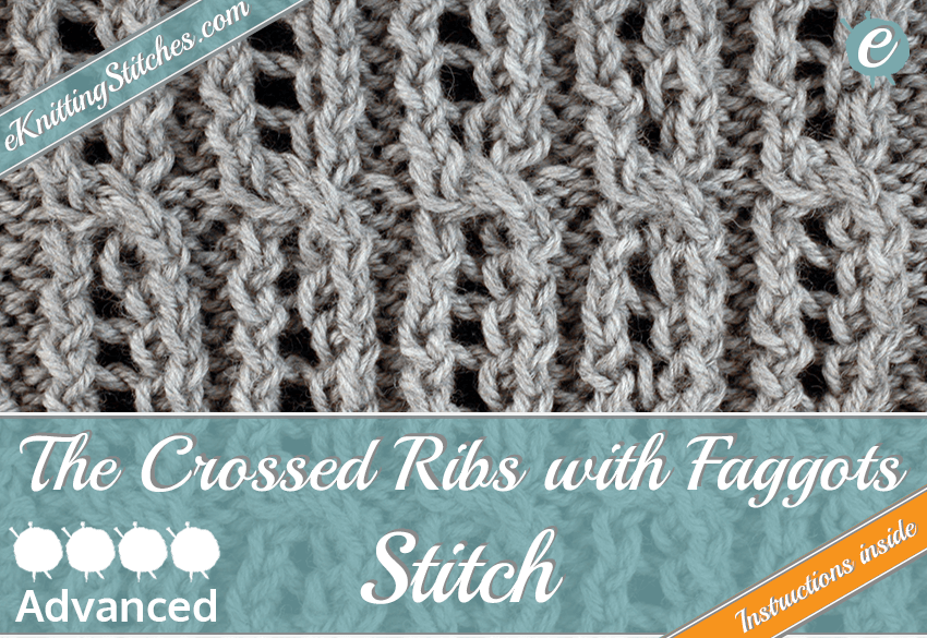 Crossed Ribs with Faggots Stitch example & Title for