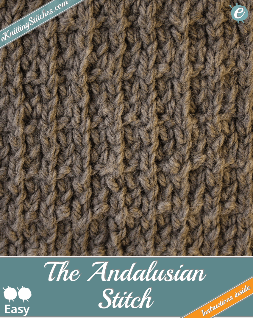Andalusian Stitch example & Flag Slide for