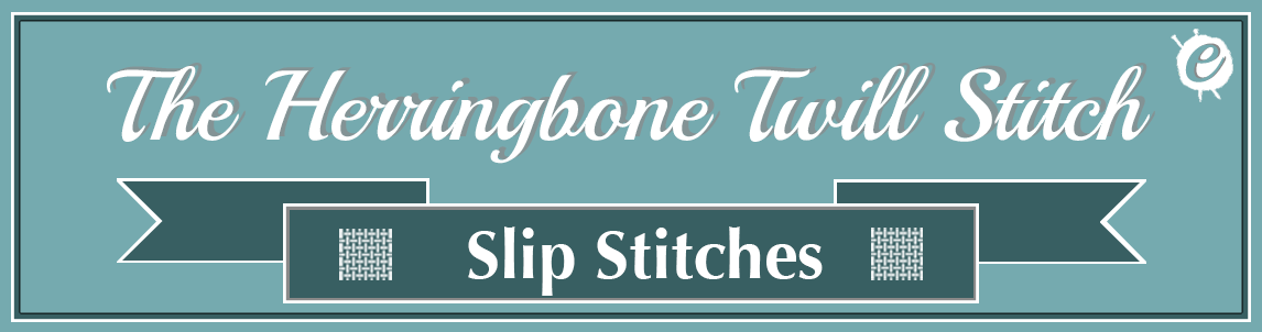 The Herringbone Twill Stitch Banner Title