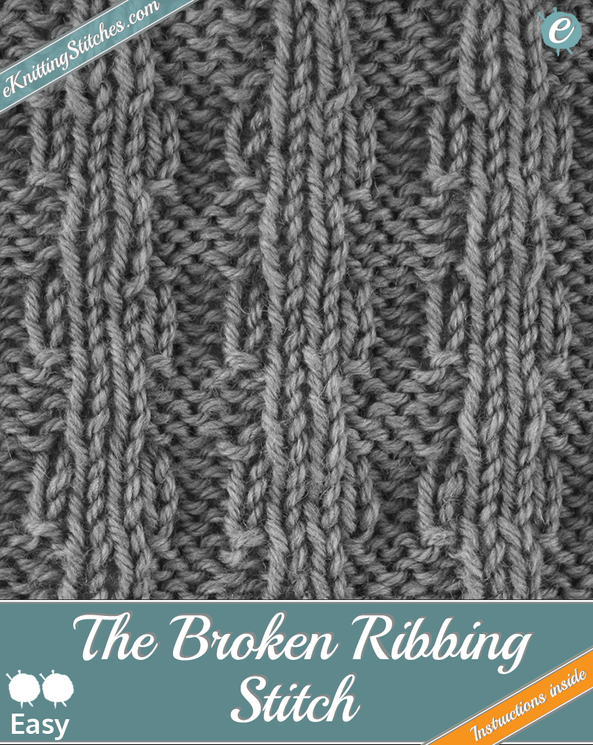 Broken Ribbing Stitch example & Title Slide for