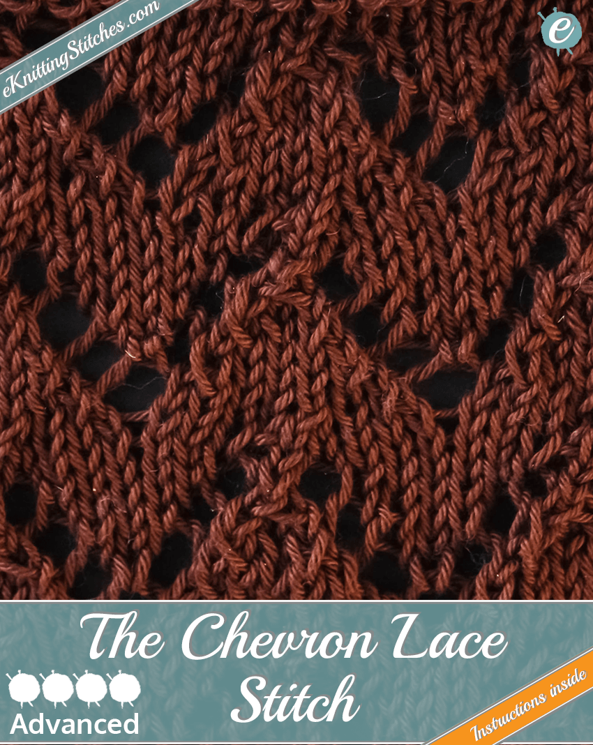Chevron Lace Stitch example & Title Slide for