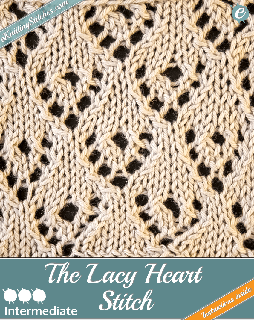 Lacy Heart stitch example & title slide for