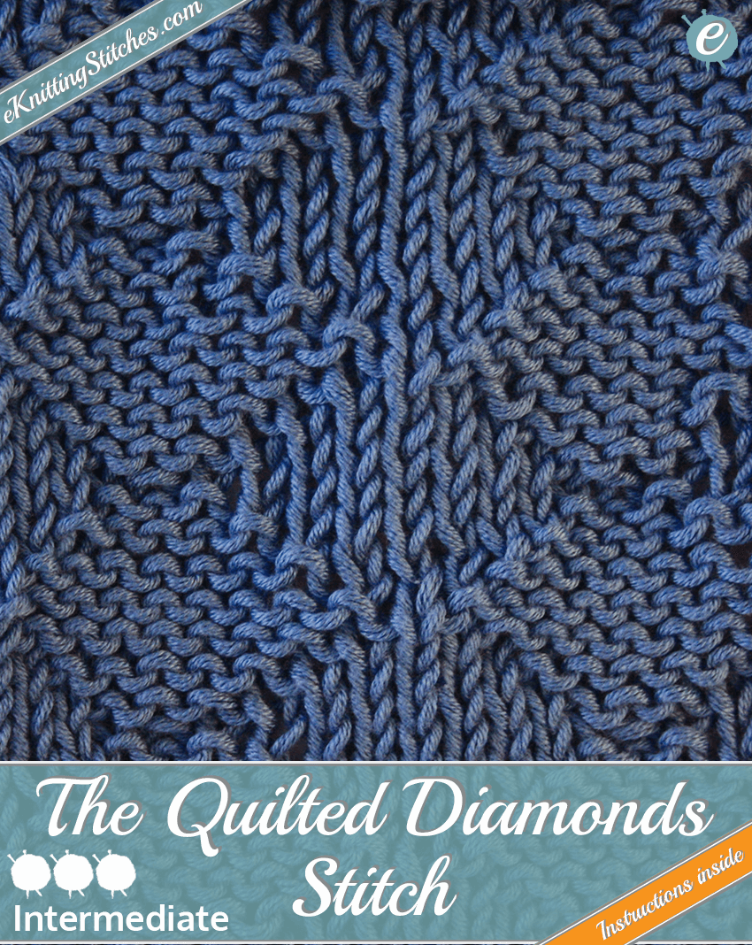 Quilted Diamonds stitch example & Title Slide for