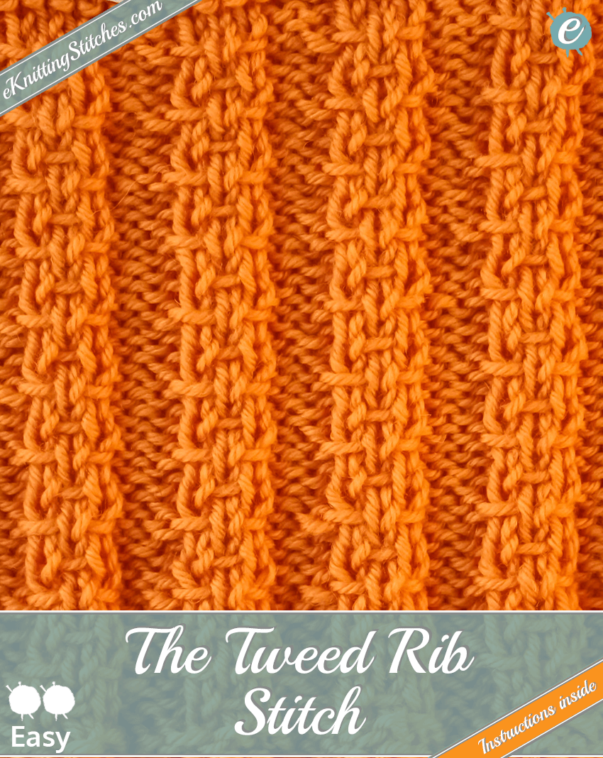 Tweed Rib Stitch example & Title Slide for