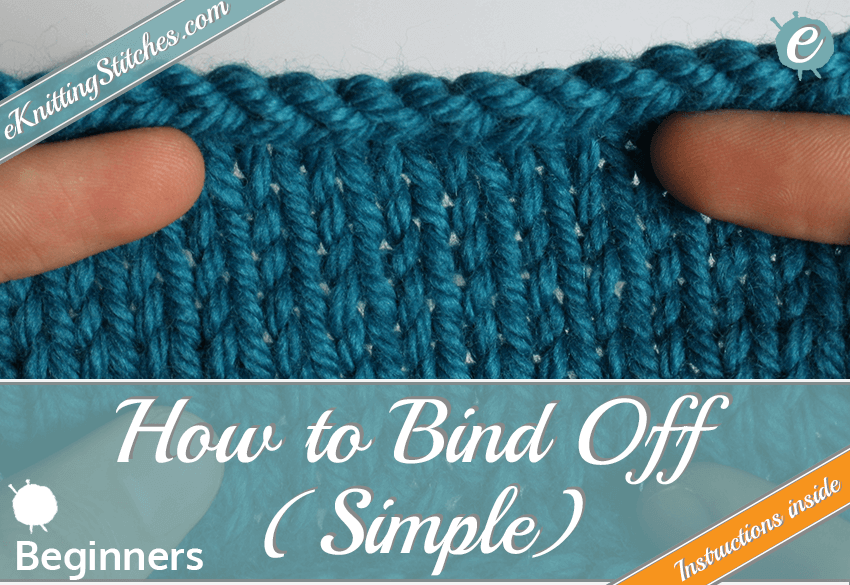 How to do a simple bind off title slide