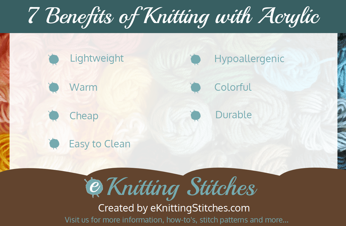 7 Advantages of Knitting with Acrylic Yarn title