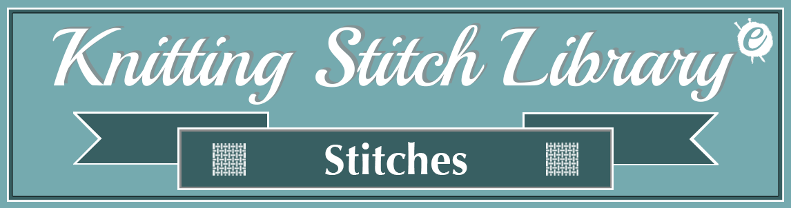 Knitting Stitch Library Banner