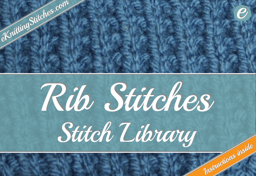 Photo example of a rib stitch - links to rib stitch collection.