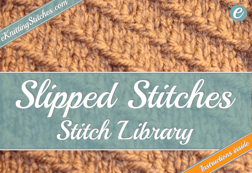 Photo example of a slipped stitch - links to slipped stitch collection.