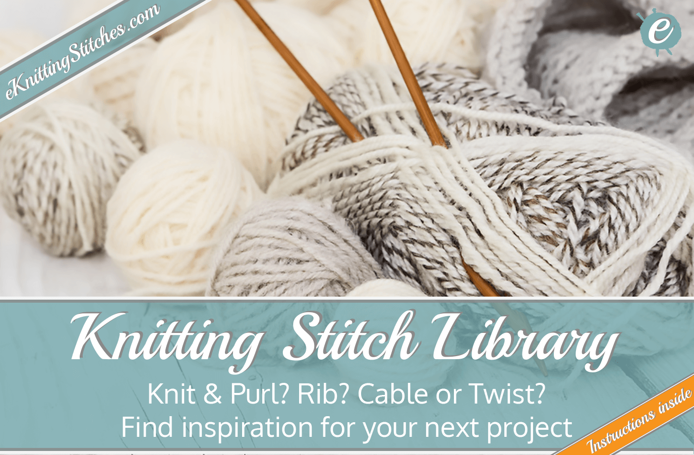 Knitting Stitch Library Title