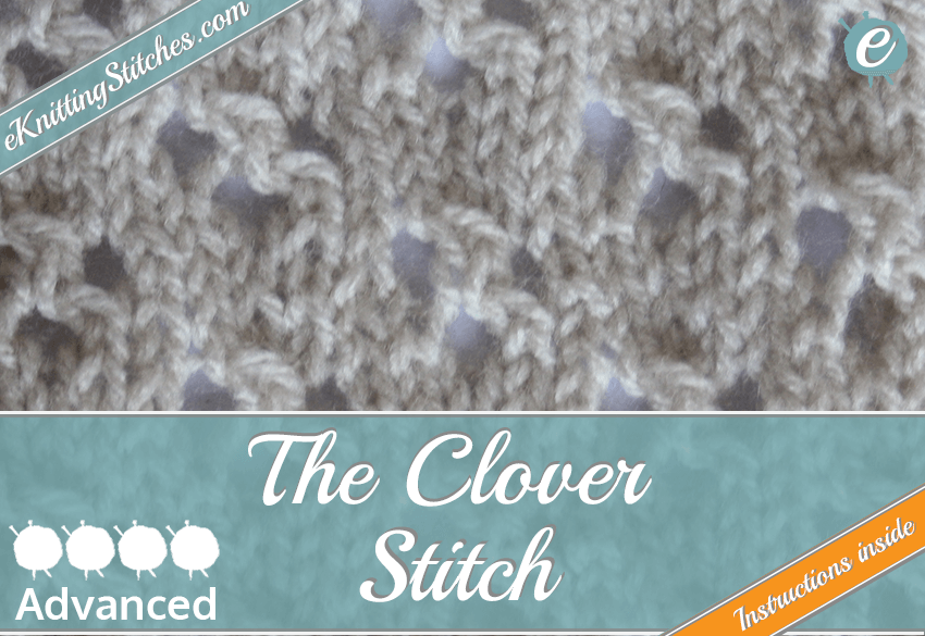 Clover stitch example & Title Slide for