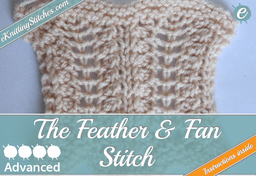 Feather & Fan stitch example & Title Slide for