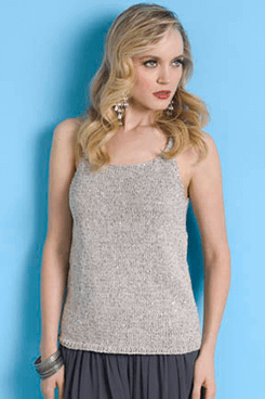 Paris tank top in stockinette stitch by Takhi Stacy Charles Inc.