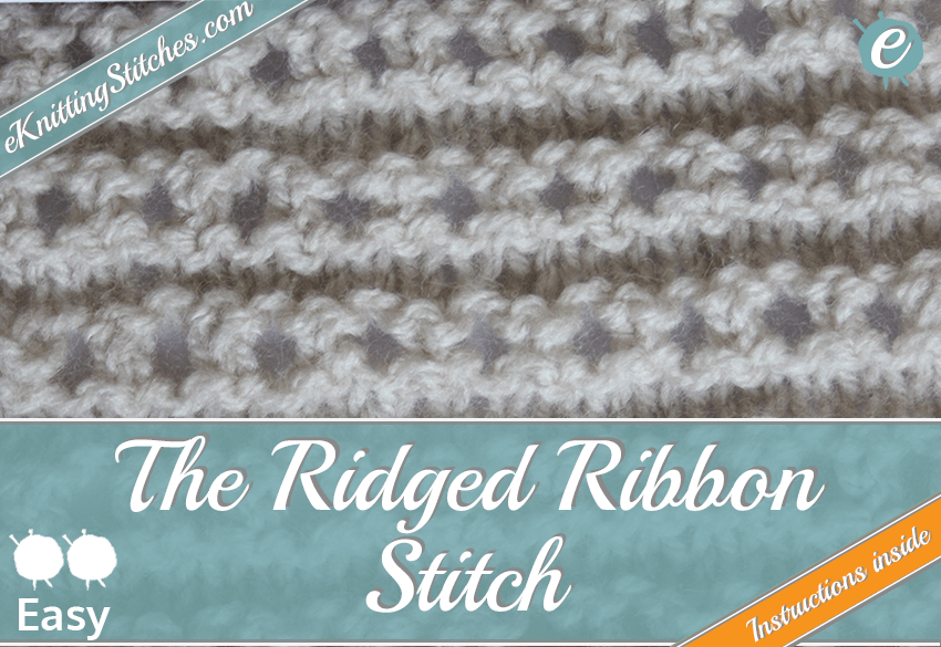 Ridged Ribbon stitch example & Title Slide for