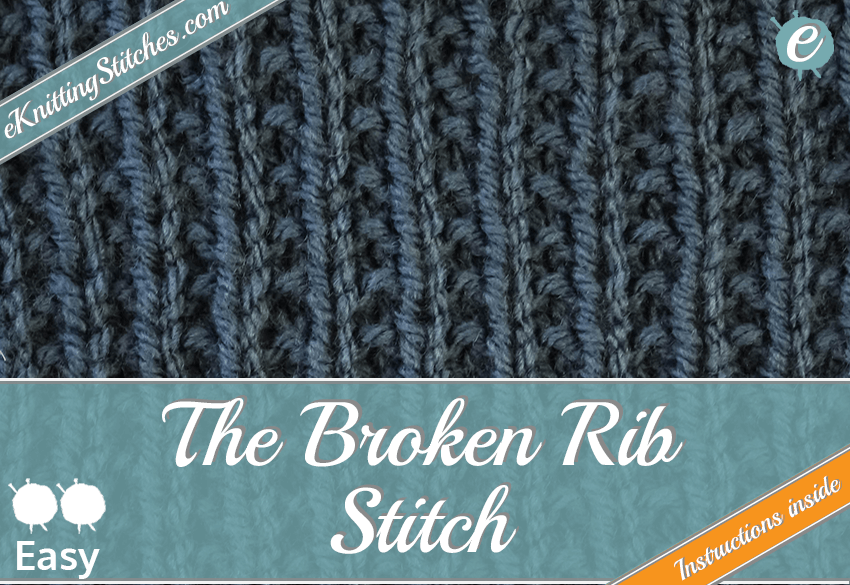 Broken Rib Stitch example & Title Slide for