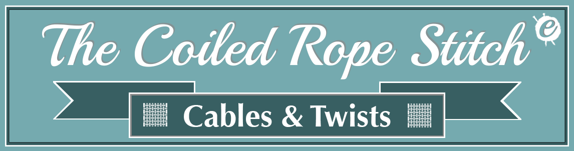 The Coiled Rope Stitch Banner Title