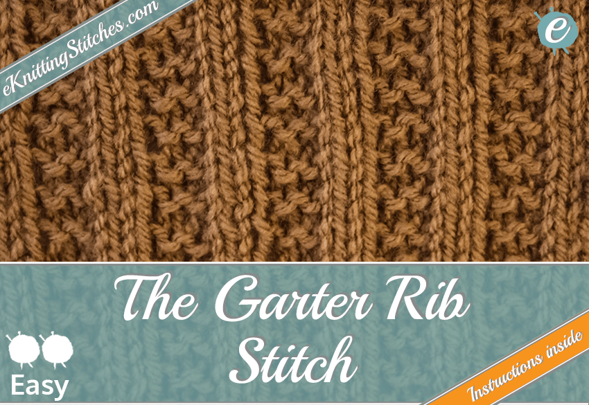 2x2 Garter Rib Stitch example & Title Slide for
