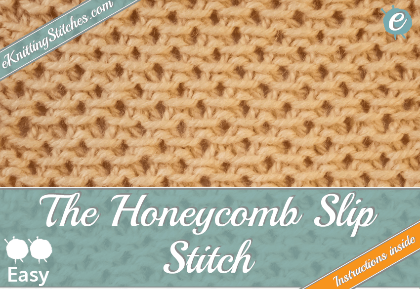 Honeycomb Slip stitch example & Title Slide for